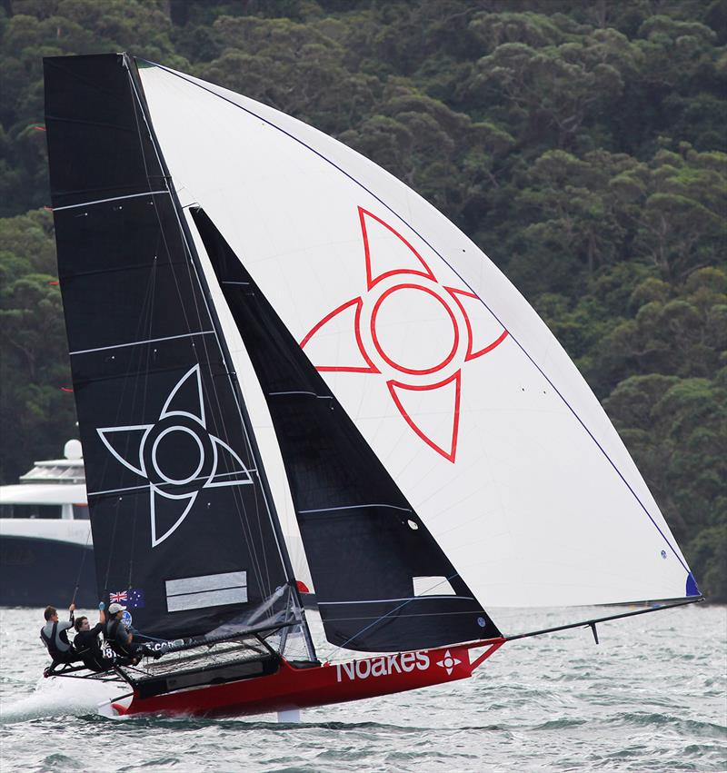 18ft Skiff JJ Giltinan Championship day 1: Early race leader, Noakesailing - photo © Frank Quealey