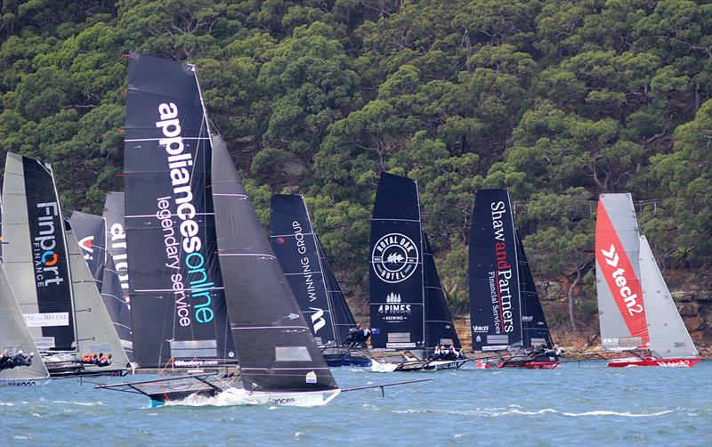 18ft Skiff JJ Giltinan Championship day 1: tech2 wins the start - photo © Frank Quealey