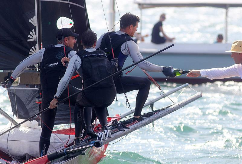 18ft Skiff JJ Giltinan Championship day 6: Champagne for the champions - photo © Frank Quealey