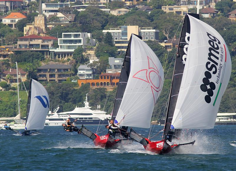 18ft Skiff JJ Giltinan Championship day 6: The race for second, third and fourth - photo © Frank Quealey