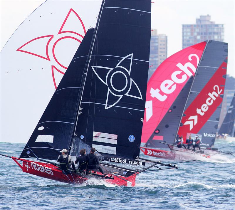 18ft Skiff JJ Giltinan Championship day 6: Battle for the early lead - photo © Frank Quealey
