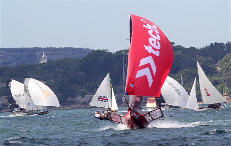 18ft Skiff JJ Giltinan Championship day 6: Mixture of old and new 18s - photo © Frank Quealey