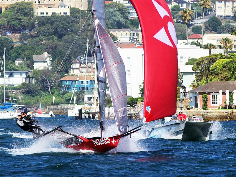 Sean Langman's Noakesailing with the club's video team in hot pursuit - photo © Frank Quealey