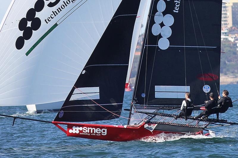 Smeg was another team to suffer from the mark rounding incident photo copyright Frank Quealey taken at Australian 18 Footers League and featuring the 18ft Skiff class