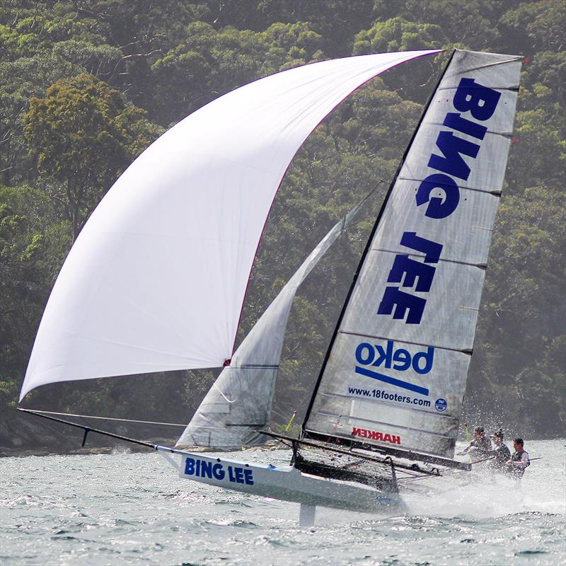 Bing Lee is one of the strongest challengers for the title - 2018-2019 NSW 18ft Skiff Championship photo copyright Frank Quealey taken at Australian 18 Footers League and featuring the 18ft Skiff class