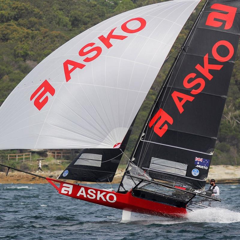 NSW 18ft Skiff champion Asko Appliances heads for the finish line - 2019 NSW 18ft Skiff Championship - photo © Frank Quealey