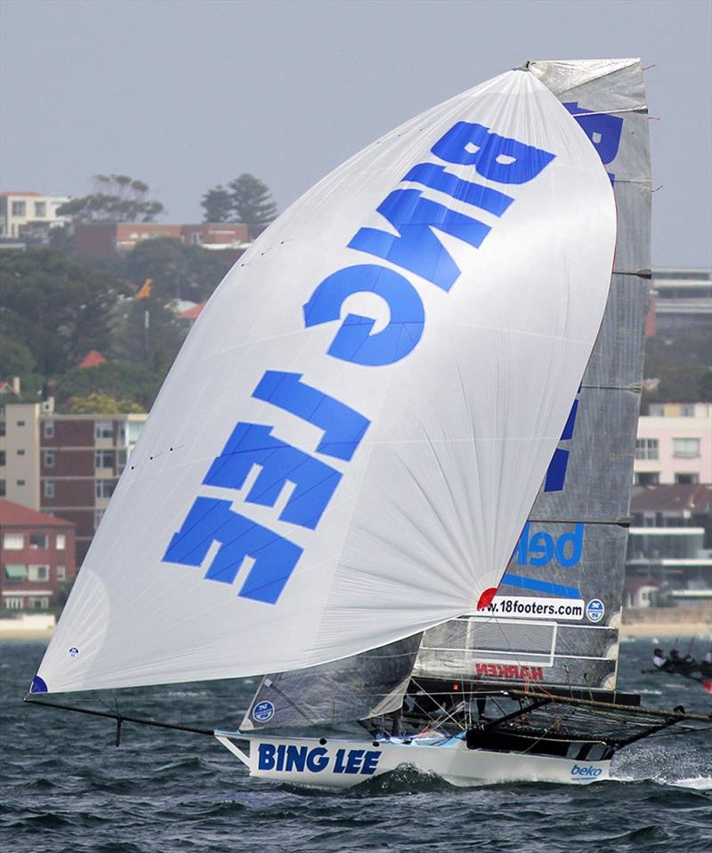 Bing Lee finished fifth overall in the 2019 NSW 18ft Skiff Championship - photo © Frank Quealey