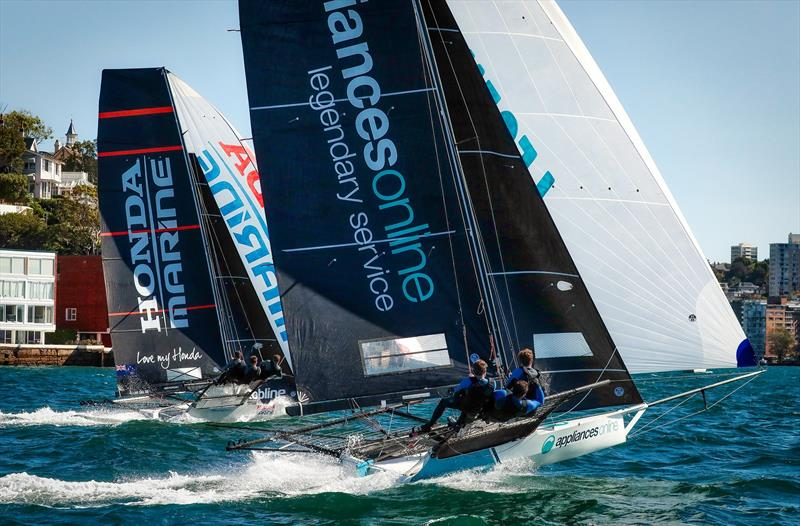 Honda Marine and Appliances Online bow to bow heading for the finish - Race 2 - JJ Giltinan Championship 2019, March 3, 2019 - photo © Michael Chittenden