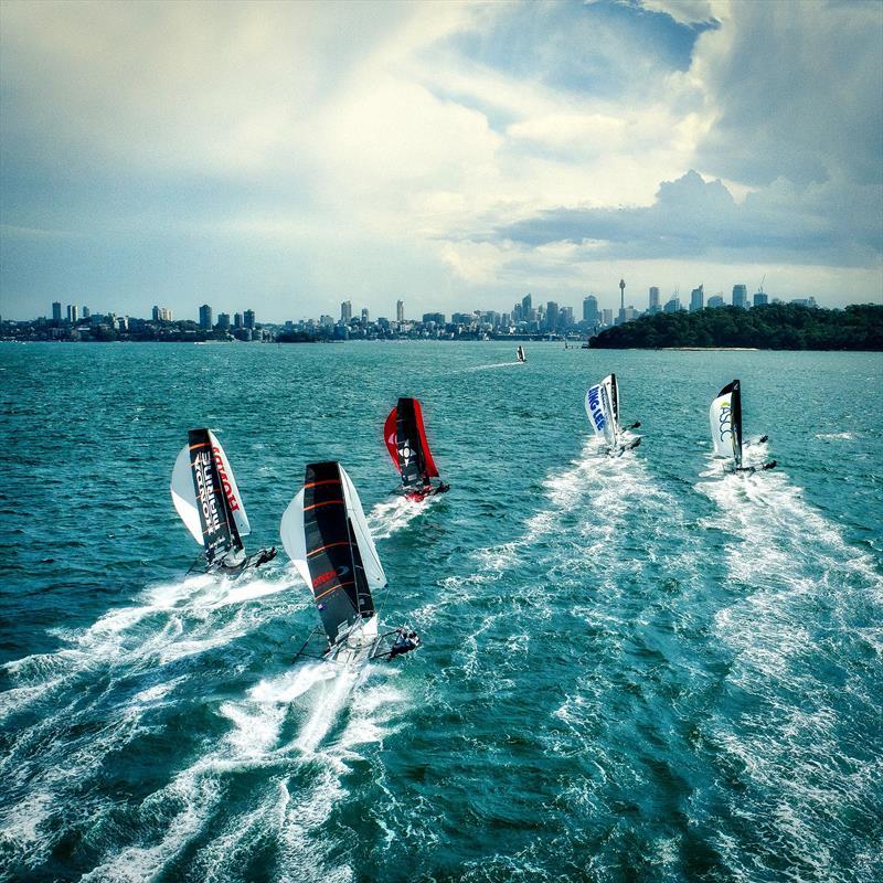 Day 3 - downwind - 2019 JJ Giltinan Championship, Sydney Harbour, March 2019, - photo © Aeromedia