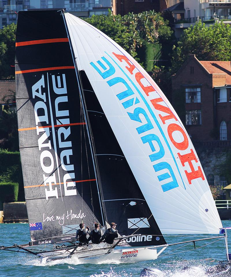 Honda Marine, JJ Giltinan champion - 2019 JJ Giltinan Championship photo copyright Frank Quealey taken at Australian 18 Footers League and featuring the 18ft Skiff class