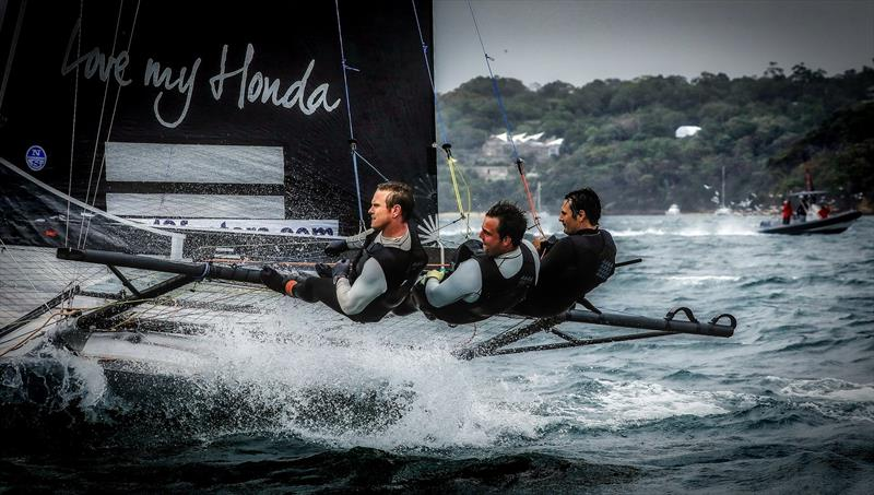 `Having three guys who are keen, and all are mates is important` David McDiarmid - Honda Marine - 18ft skiffs, Sydney - photo © Michael Chittenden