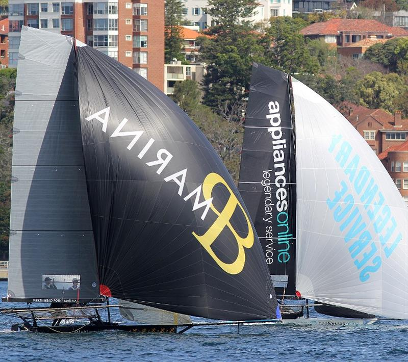 Appliancesonline and Birkenhead Point Marina onn the run to the wing mark on lap one of the course - photo © Frank Quealey