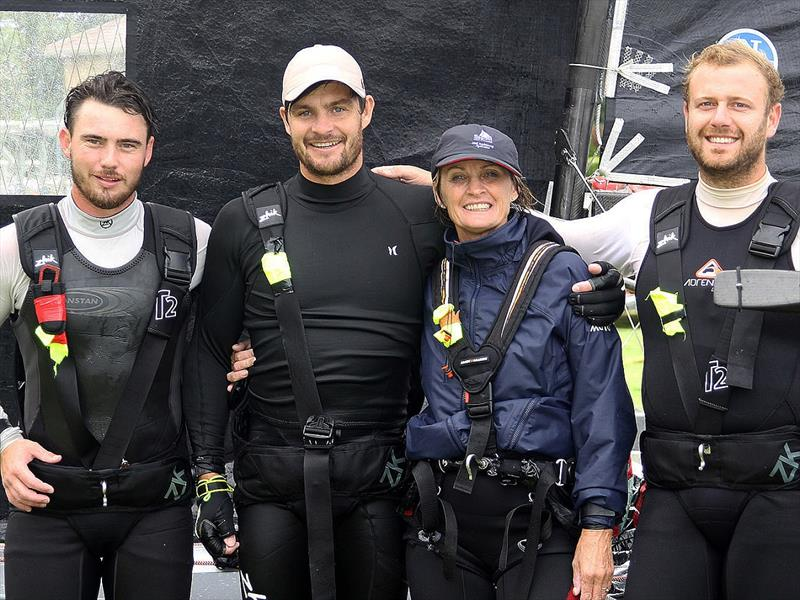 Dal Zotto team with the Queen of the Harbour, Corinne Feldman - photo © Frank Quealey