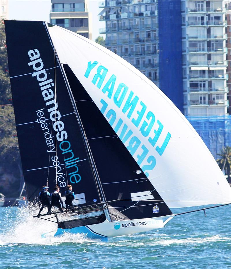 Appliancesonline.com.au showing the form which won her the Spring Championship - 18ft Skiff NSW Championship 2019 - photo © Frank Quealey