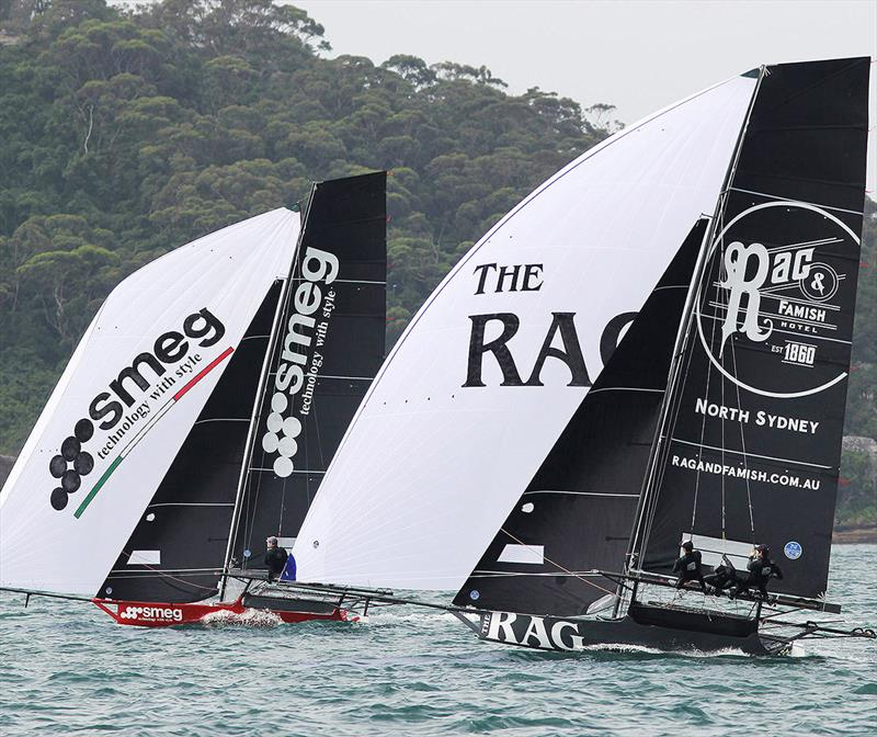 Smeg and Rag and Famish Hotel, two of the teams vying for the title - 18ft Skiff NSW Championship 2019 - photo © Frank Quealey