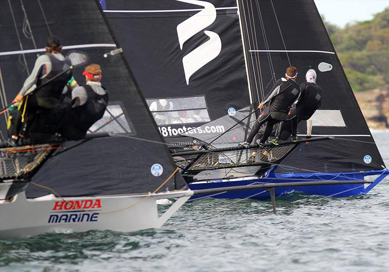 Honda Marine contests the lead with Winning Group - 18ft skiffs - JJ Giltinan Championship - March 17, 2020 - Day 3 - Sydney Harbour - photo © Michael Chittenden