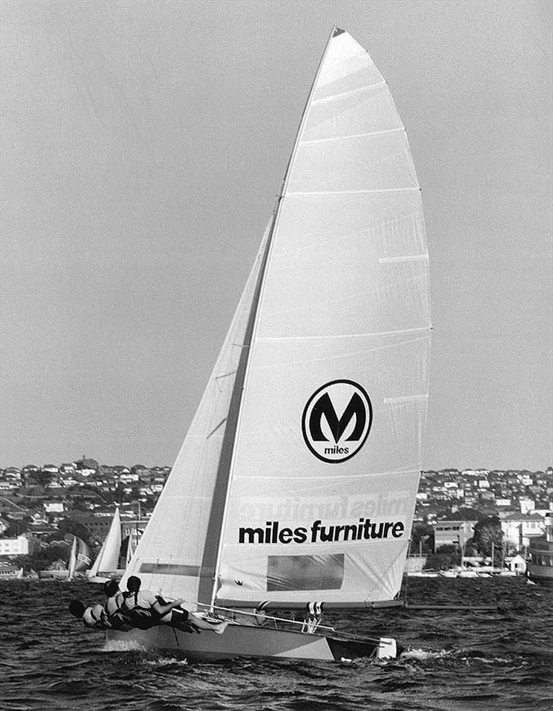 The Kulmar Family - Miles Furniture, 1976 Giltinan champion, upwind on Sydney Harbour - photo © Frank Quealey