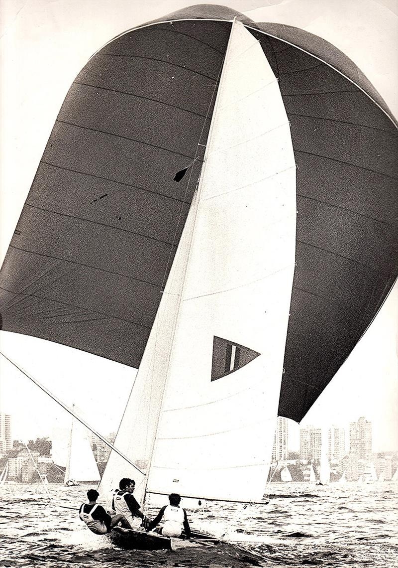 Thomas Cameron under her big spinnaker on Sydney Harbour - photo © Frank Quealey