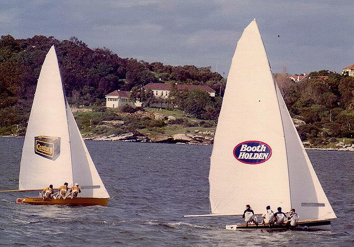Booth Holden and Century Battery work into Rose Bay - photo © Frank Quealey