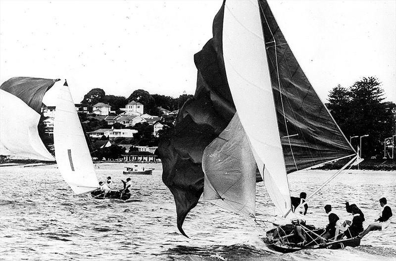 The Fox chases series winner Schemer at the 1963 Giltinan world Championship in Auckland - photo © Frank Quealey