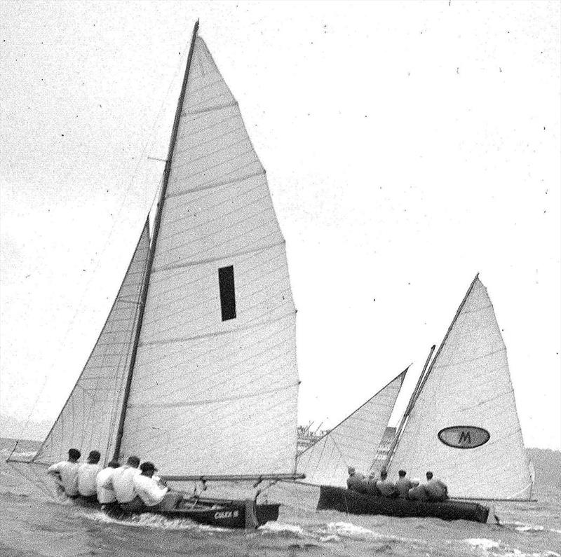 Myra Too and Culex III in action during the 1951 Giltinan Championship - photo © Frank Quealey