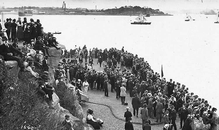 Clark Island was Mark Foy's 'grandstand' for his 18 Footer races on Sydney Harbour - photo © Frank Quealey