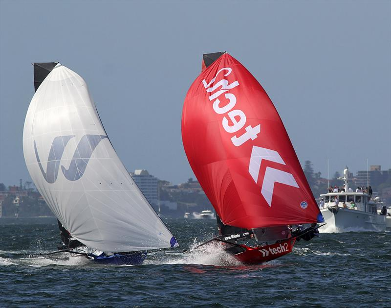 Tech2 and Winning Group in North East spinnaker run action on Sydney Harbour last season - photo © Frank Quealey