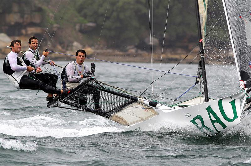 Jack and his 2013 JJ Giltinan team show the concentration and pressure of a tough race - photo © Frank Quealey
