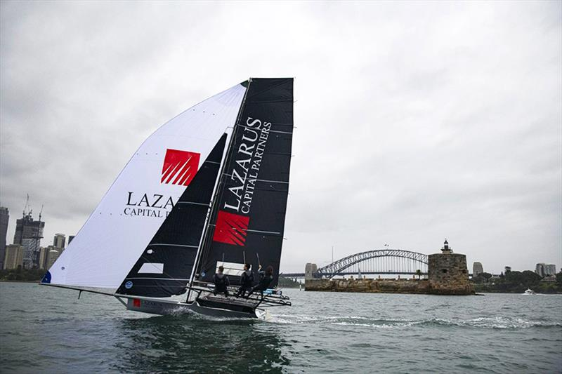 Lazarus Capital Partners shows her paces on Sydney Harbour at the official launch - photo © Mark O'Meally