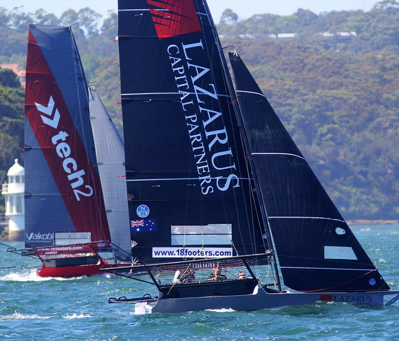 The Australian champion tech2 and Lazarus Capital Partners rookie team go to windward in a NE breeze on Sydney Harbour - photo © Frank Quealey
