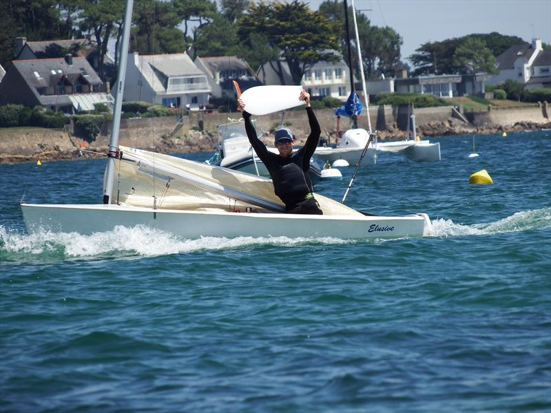 Michiel De Boer breaks his rudder before the Magic Marine Solo Nation's Cup - photo © Will Loy