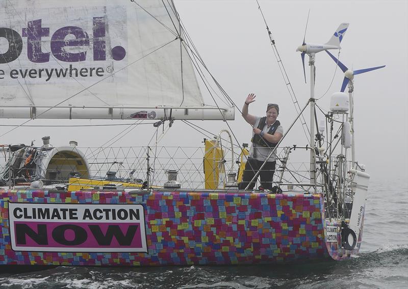 Lisa Blair returns after circumnavigating Australia - photo © Ceilocam