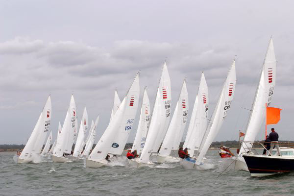 Testing conditions in the Solent on day one of the Sonar Worlds - photo © Hamo Thornycroft