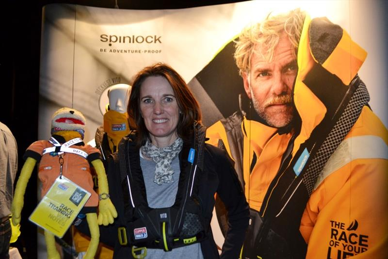 Heather Broadbent with companion It's NOT FLAT Eric - photo © Spinlock