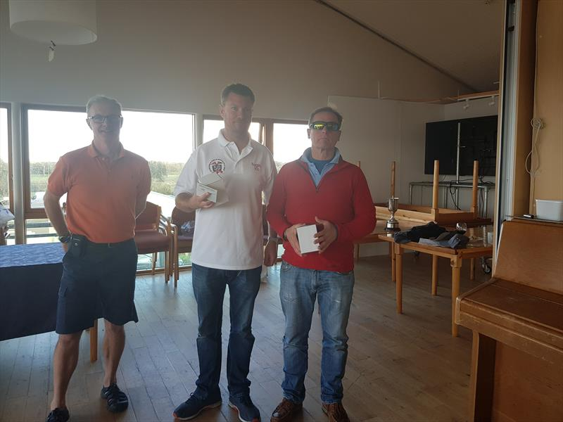 Gordon Patterson and Ross Nolan finish 2nd in the Irish Squib Inlands at Lough Derg - photo © Fiona Ward