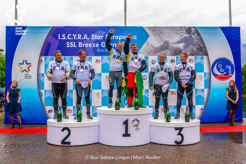 Podium - 2019 Star European Championships and Star Sailors League Breeze Grand Slam - photo © Marc Rouiller