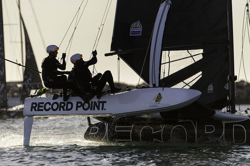 Not everything went to plan for Record Point - again. photo copyright Andrea Francolini taken at  and featuring the Superfoiler class