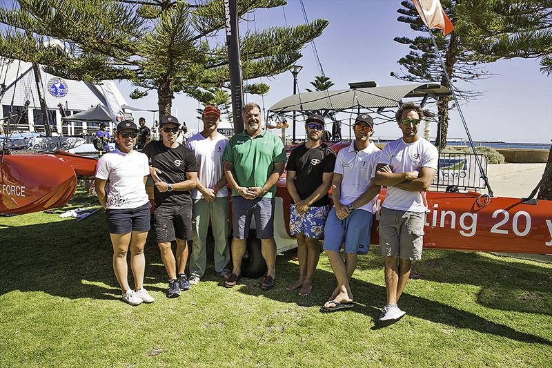 The SuperFoiler Shore Crew photo copyright Rob Norman taken at Geographe Bay Yacht Club and featuring the Superfoiler class