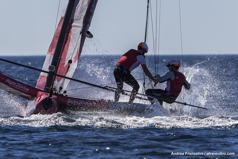 iDintranet managed to make a splash in the light conditions - photo © Andrea Francolini