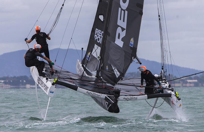 Record Point in action in Geelong - SuperFoiler Grand Prix 2018 photo copyright Crosbie Lorimer taken at Royal Geelong Yacht Club and featuring the Superfoiler class