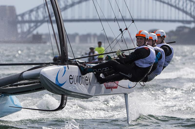Euroflex  - SuperFoiler Grand Prix 2018 photo copyright Andrea Francolini taken at Woollahra Sailing Club and featuring the Superfoiler class