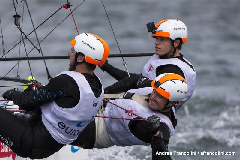 Winning ways - the Dream Team with new recruit, Harry Mighell on the bow. - photo © Andrea Francolini