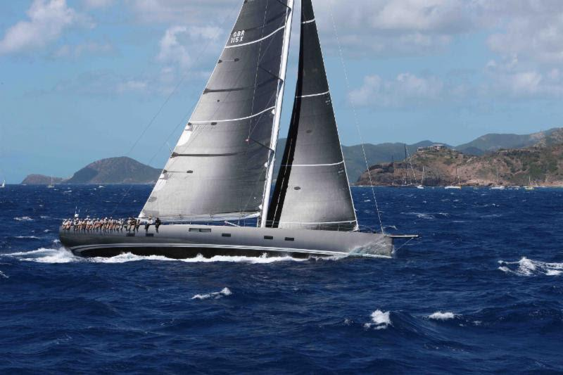 Runner-up for Monohull Line Honours was the magnificent 115ft Baltic sloop Nikata, who completed the RORC Caribbean 600 in almost exactly 48 hours - photo © Tim Wright / www.photoaction.com