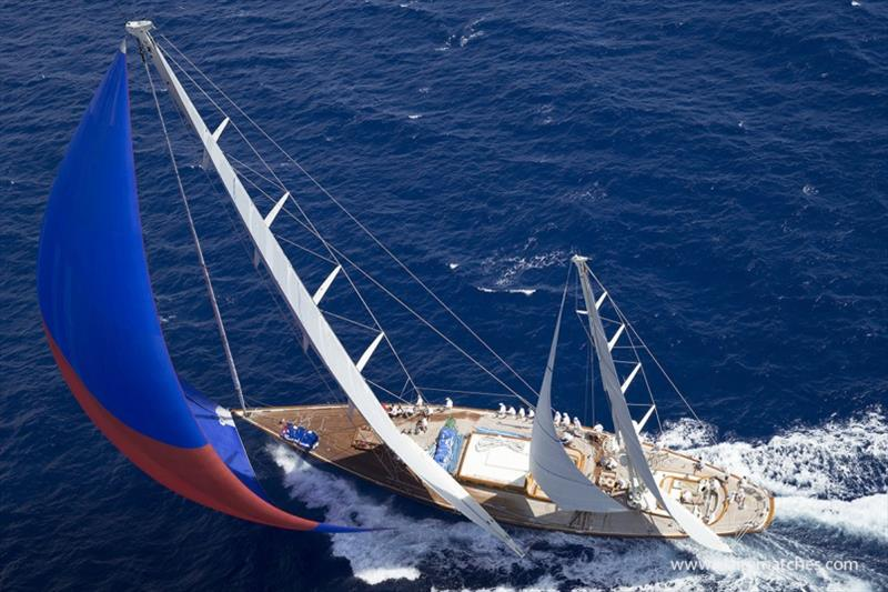 The 140ft German Frers designed ketch Rebecca - 2018 Superyacht Challenge Antigua - photo © Claire Matches / www.clairematches.com
