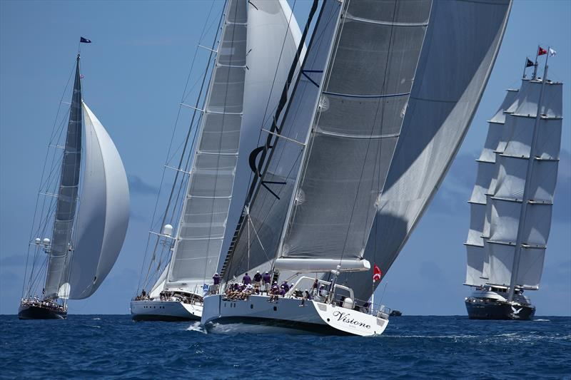 Superyachts racing in Bermuda before the 35th America's Cup - photo © Richard Gladwell / Sail-World.com