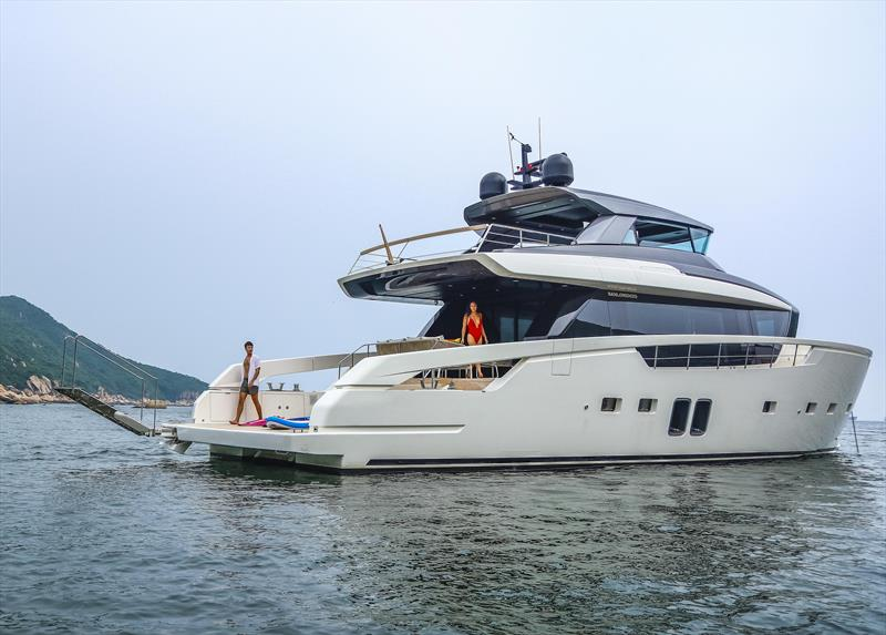 Sanlorenzo SX76: where are you going today? - photo © Simpson Marine