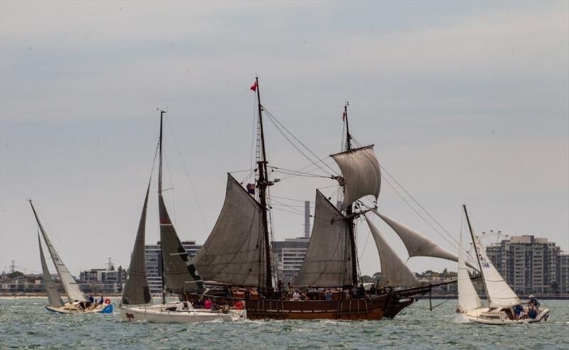 A Tall Ship on the course cost some competitors dearly - Port Phillip Women's Championship Series 2019 - photo © Bruno Cocozza