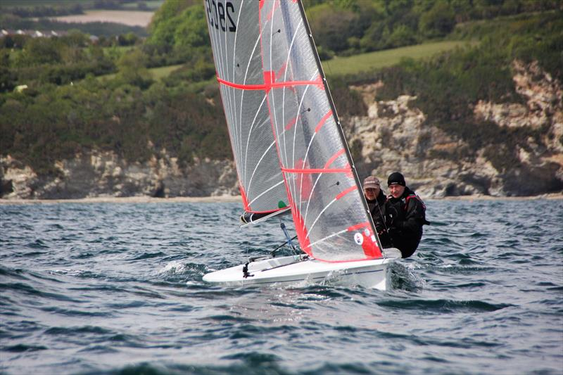 Tasars at Porthpean photo copyright Stacey Bray taken at Porthpean Sailing Club and featuring the Tasar class