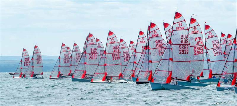 Start line during the Tasar Worlds at Hayling Island - photo © Peter Hickson
