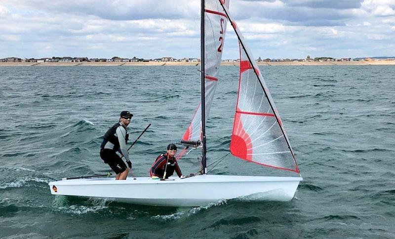 James and Tara Burman win the practice race before the Tasar World Championship at Hayling Island - photo © HISC